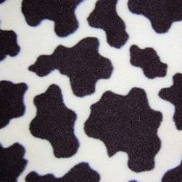 cow fleece swatch