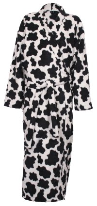 Cow Pattern Fleece Dressing Gown
