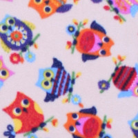 Photo of New Owl fleece fabric