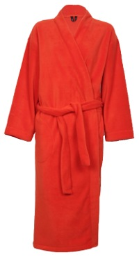 Orange Fleece Dressing Gown