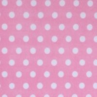 Photo of Pink Polka fleece fabric
