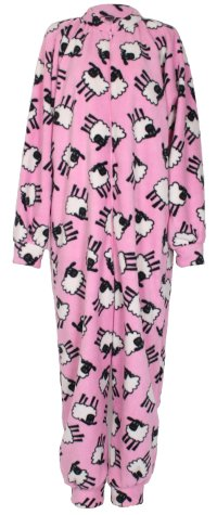 Pink Sheep pattern fleece onesie and all-in-one