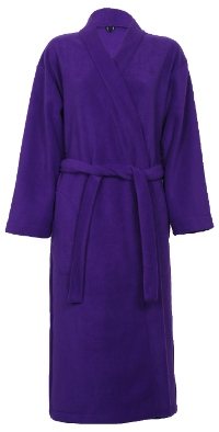 Purple Fleece Dressing Gown