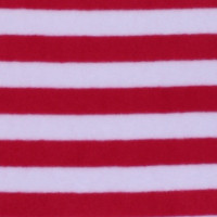 Photo of Red Stripe fleece fabric