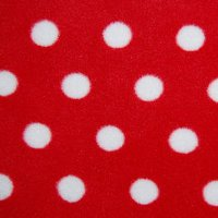 Photo of Red Polka fleece fabric