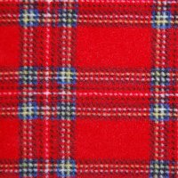 Photo of Royal Stewart fleece fabric