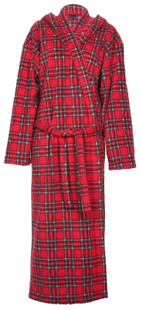 Tartan Fleece Dressing Gown